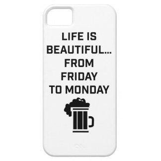 La vida de Wellcoda es fin de semana hermoso del iPhone 5 Funda