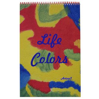 La vida del arte de 2016 calendarios colorea la