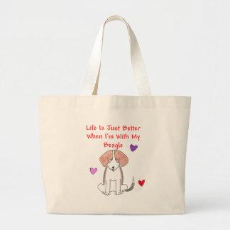 La vida del beagle es apenas la mejor bolsa de asa