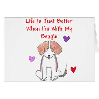 La vida del beagle es apenas una mejor tarjeta