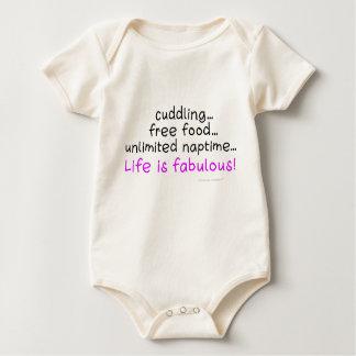 La vida del bebé es de una sola pieza infantil mamelucos