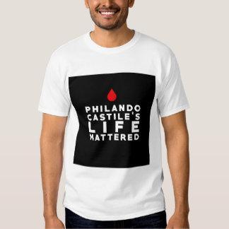 La vida del Castile de Philando importó Remera