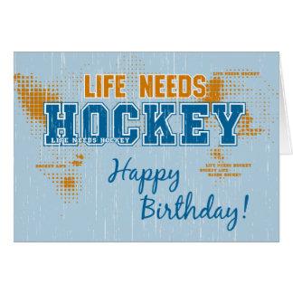 La vida del cumpleaños necesita la tarjeta de