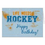 La vida del cumpleaños necesita la tarjeta de feli
