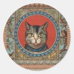 La vida del gato del vintage para los amantes del  pegatina