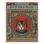 La vida del gato del vintage para los amantes del póster