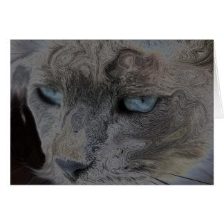 La vida del gato tarjeta de felicitación