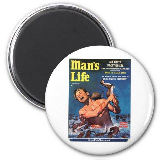 ¡La vida del hombre, sept. de 1956 - las comadreja Imán Redondo 5 Cm