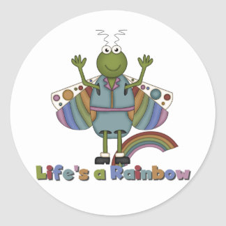 La vida del insecto es camisetas y regalos de un pegatina redonda