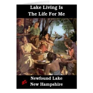 La vida del lago es la vida para mí tarjeta de felicitación