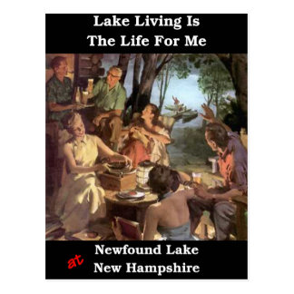 La vida del lago es la vida para mí tarjeta postal