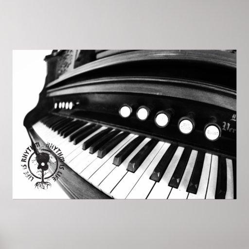 La vida del órgano es fotografía del ritmo posters