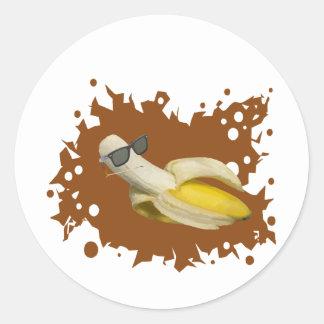La vida del plátano es buena etiqueta redonda