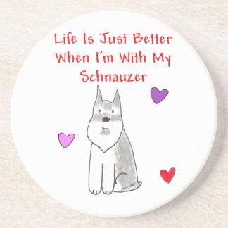 La vida del Schnauzer es apenas un mejor Coasater Posavasos Cerveza