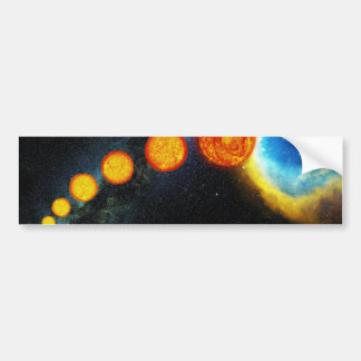 La vida del Sun en vario mil millones años Pegatina Para Auto