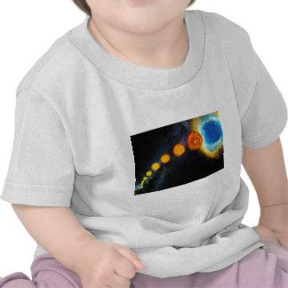 La vida del Sun en vario mil millones años Camisetas
