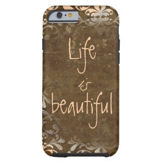 La vida del vintage es caso hermoso del iPhone 6 Funda De iPhone 6 Tough