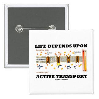 La vida depende del transporte activo (la bomba de pins