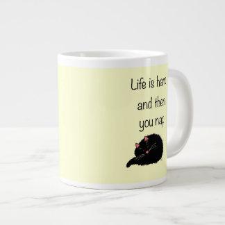La vida difícilmente y después está usted siesta tazas jumbo