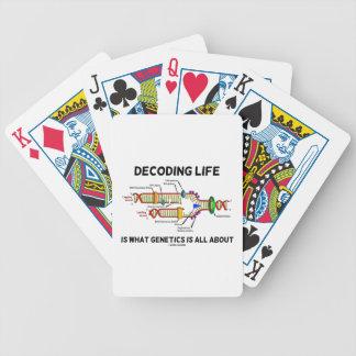La vida el descifrar es sobre cuál está la genétic baraja cartas de poker
