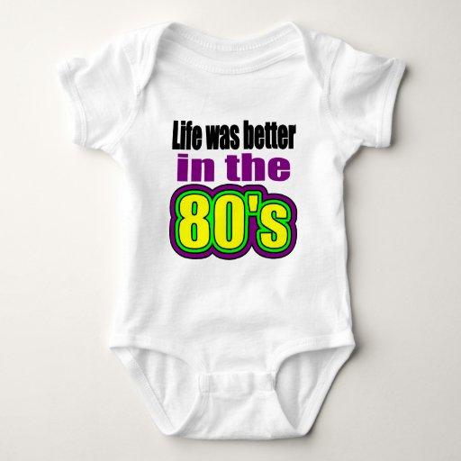 La vida era mejor en los años 80 t shirts