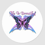 La vida es #2 hermoso etiquetas redondas