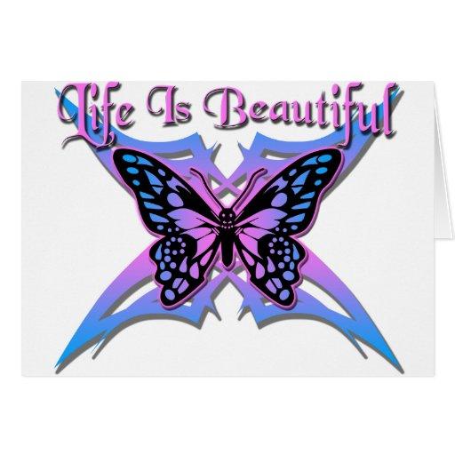 La vida es #2 hermoso tarjetas