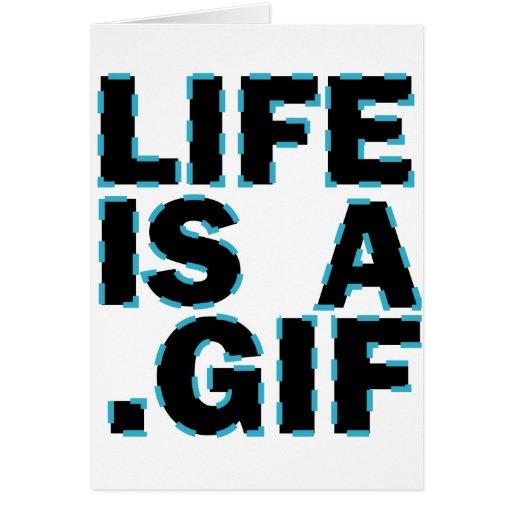 La vida es A. GIF Tarjeta De Felicitación