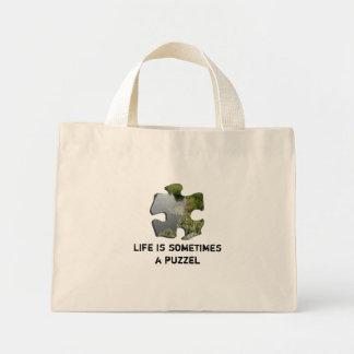 La vida es a veces un puzzel bolsa tela pequeña
