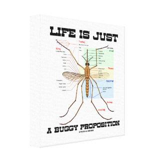La vida es apenas un asunto con errores (el humor impresión en tela