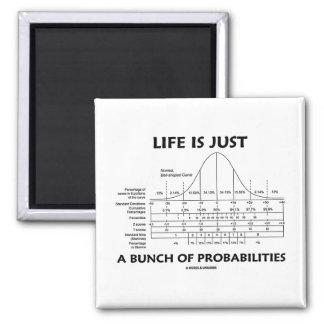 La vida es apenas un manojo de probabilidades (la imán