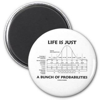 La vida es apenas un manojo de probabilidades (la imanes