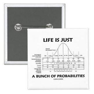 La vida es apenas un manojo de probabilidades (la  pin
