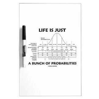 La vida es apenas un manojo de probabilidades (la  tableros blancos