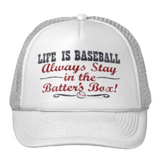 La vida es béisbol - gorra de la caja de taludes