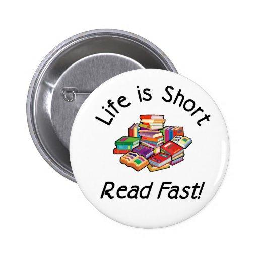 La vida es botones cortos, 2 formas, 6 tamaños pin