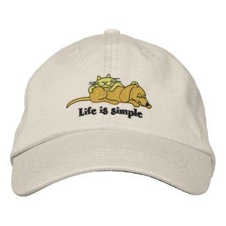 La vida es casquillo bordado simple gorra de béisbol bordada