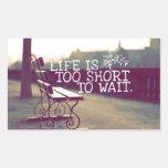 La vida es cita el | de motivación demasiado corta rectangular altavoces