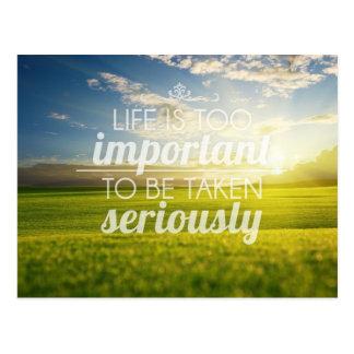 La vida es cita el | de motivación demasiado postal