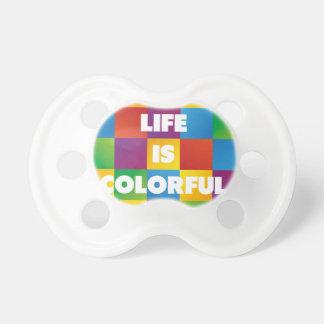 La vida es colorida chupetes para bebes