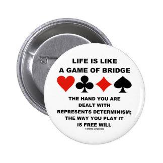 La vida es como el juego del libre albedrío del de pin