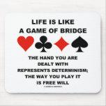 La vida es como el juego del libre albedrío del de tapete de ratones
