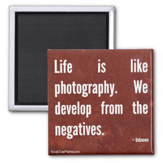 La vida es como fotografía imanes de nevera