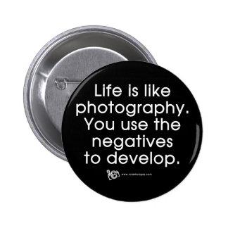 La vida es como fotografía pin