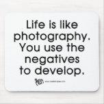La vida es como fotografía tapete de ratones