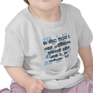 La vida es como matemáticas camiseta
