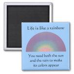 La vida es como un arco iris - mgnet imanes para frigoríficos