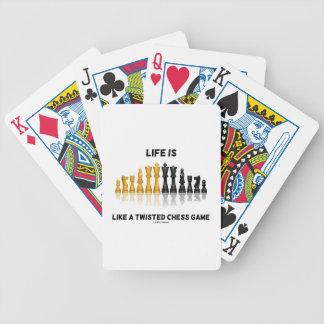 La vida es como un juego de ajedrez torcido (el cartas de juego