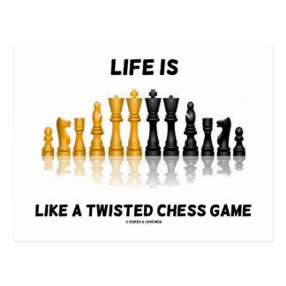 La vida es como un juego de ajedrez torcido (el ju tarjetas postales