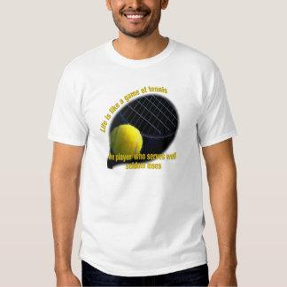La vida es como un juego del tenis remeras